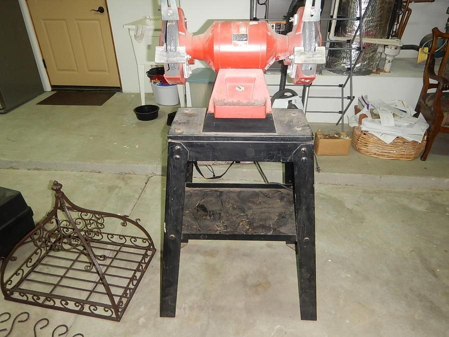 Pleasant Milwaukee Bench Grinder With Stand Bralicious Painted Fabric Chair Ideas Braliciousco